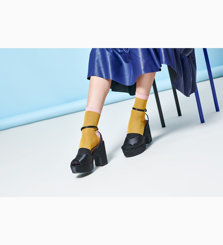 Gelbe Knöchelsocken: Liza   Hysteria by Happy Socks
