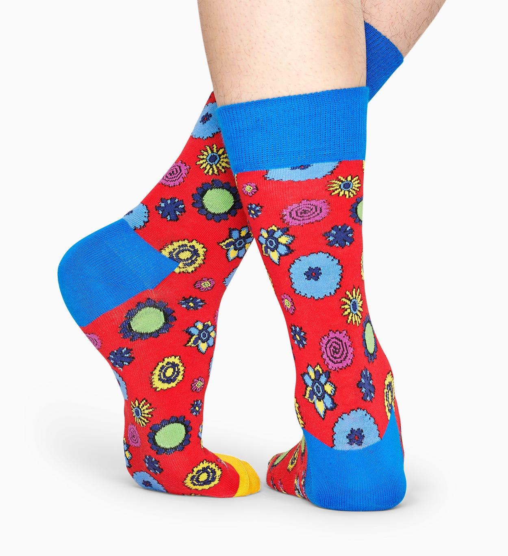 Exklusive The Beatles Socken: Flower Power I Happy Socks