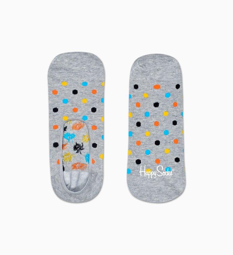 Graue Füßlinge: Dot Design   Happy Socks