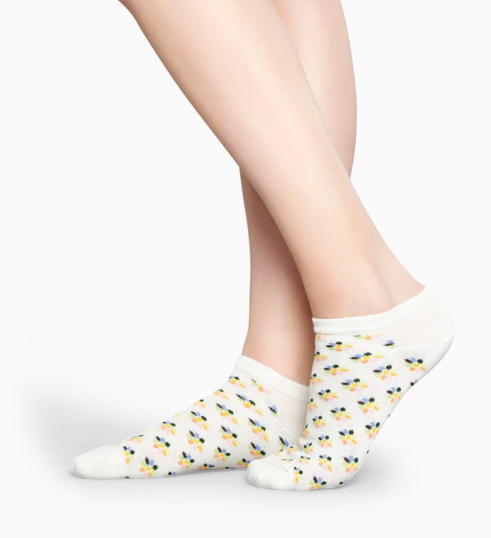 Weiße Blumen Knöchelsocken: Mini Flower | Happy Socks