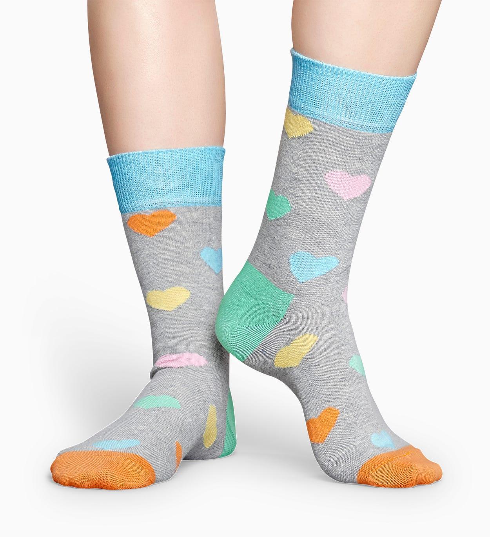 Graue Herz Socken: Heart | Happy Socks