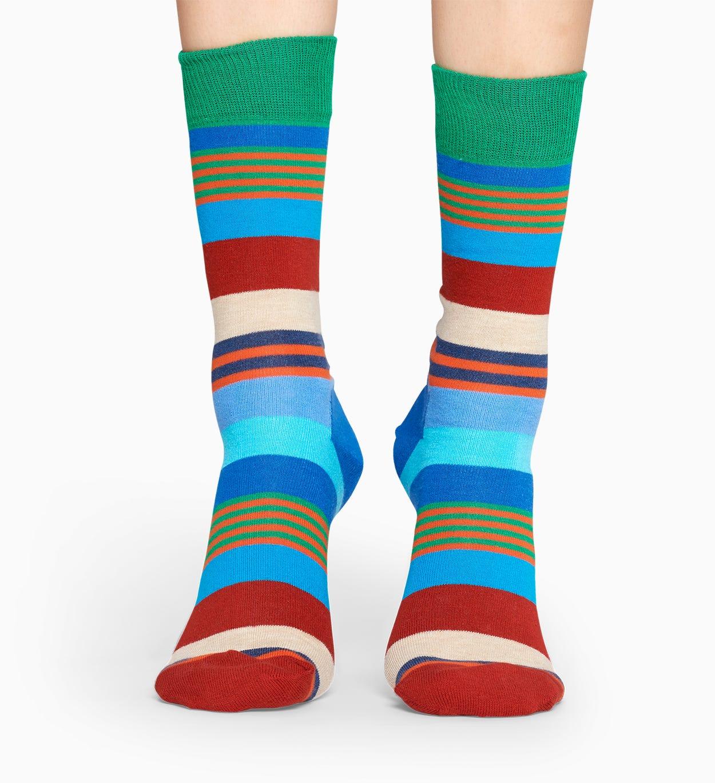Blue socks: Multi Stripe pattern | Happy Socks