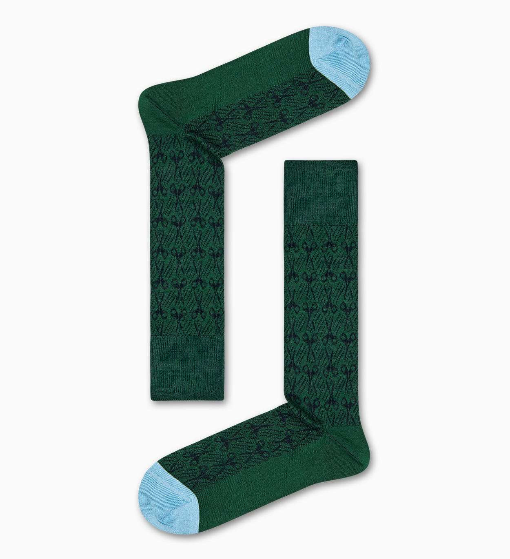 Grüne Anzugsocken: Scheren - Dressed | Happy Socks