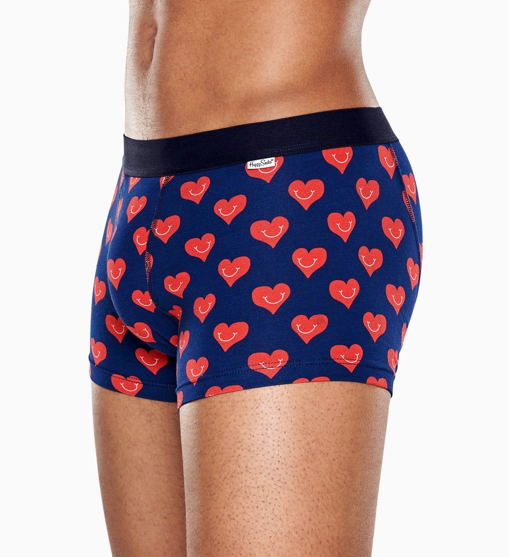 Marineblauer Trunk: Smile Heart - Herrenunterwäsche | Happy Socks