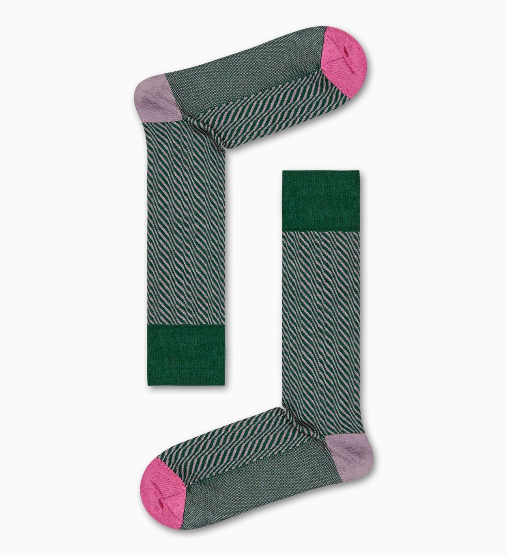 Grüne Anzugsocken: Volume - Dressed | Happy Socks