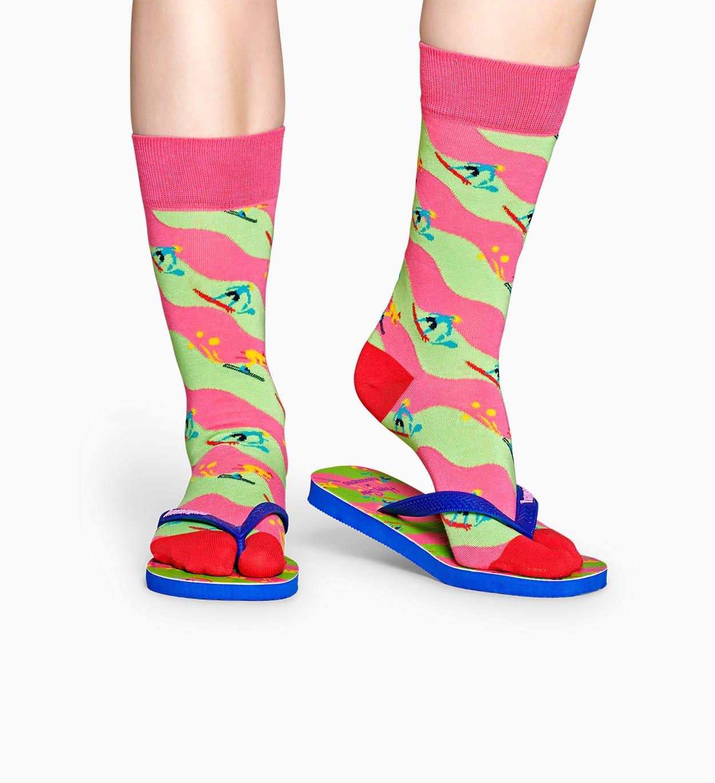 Happy Socks x Havaianas: Prstové ponožky + žabky Sport