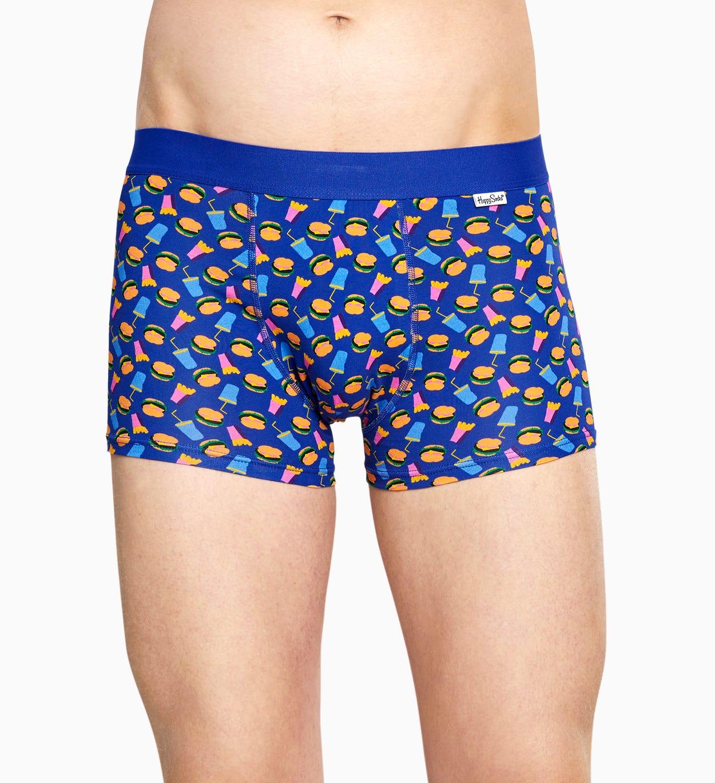 Blue trunk: Hamburger - Men's Underwear | Happy Socks