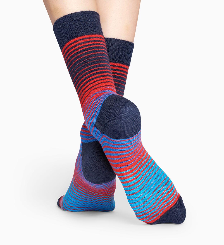 Blue   red socks: Sunrise pattern   Happy Socks