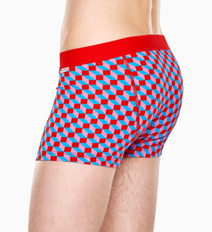 Roter Trunk: Filled Optic - Herrenunterwäsche   Happy Socks