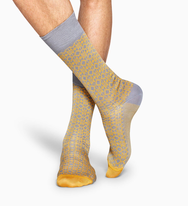 Gelbe Anzugsocken: Aztec - Dressed   Happy Socks