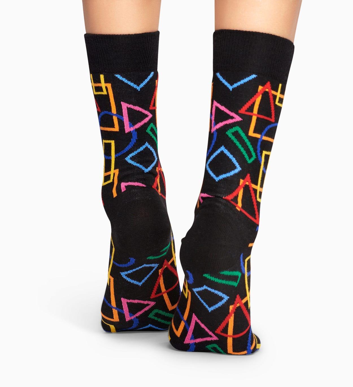Black socks: Geometric pattern | Happy Socks
