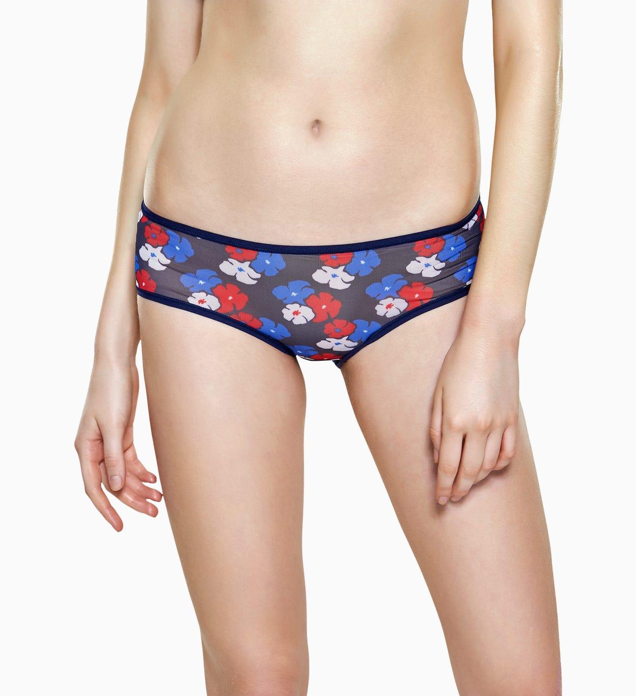 Blaue Damen Unterwäsche: Kimono Mesh Hipster | Happy Socks