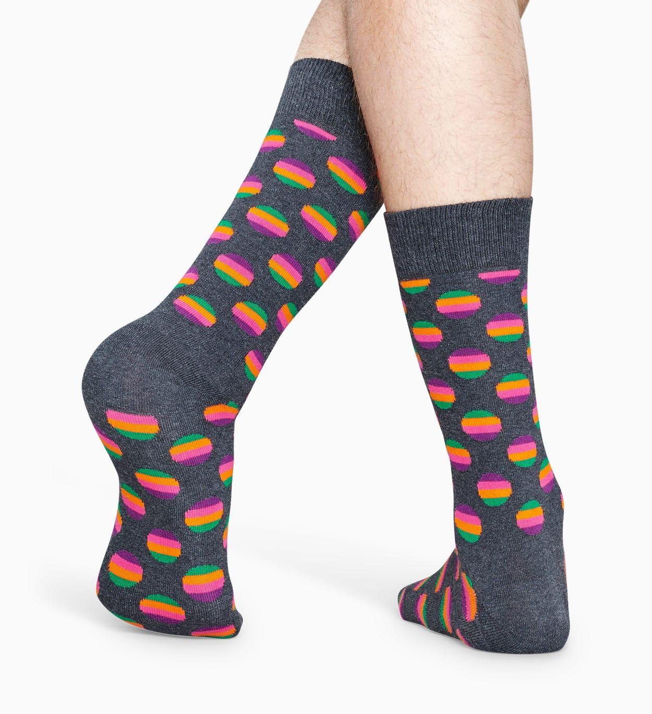 Gemusterte dunkelgraue Socken: Sunrise Dot | Happy Socks