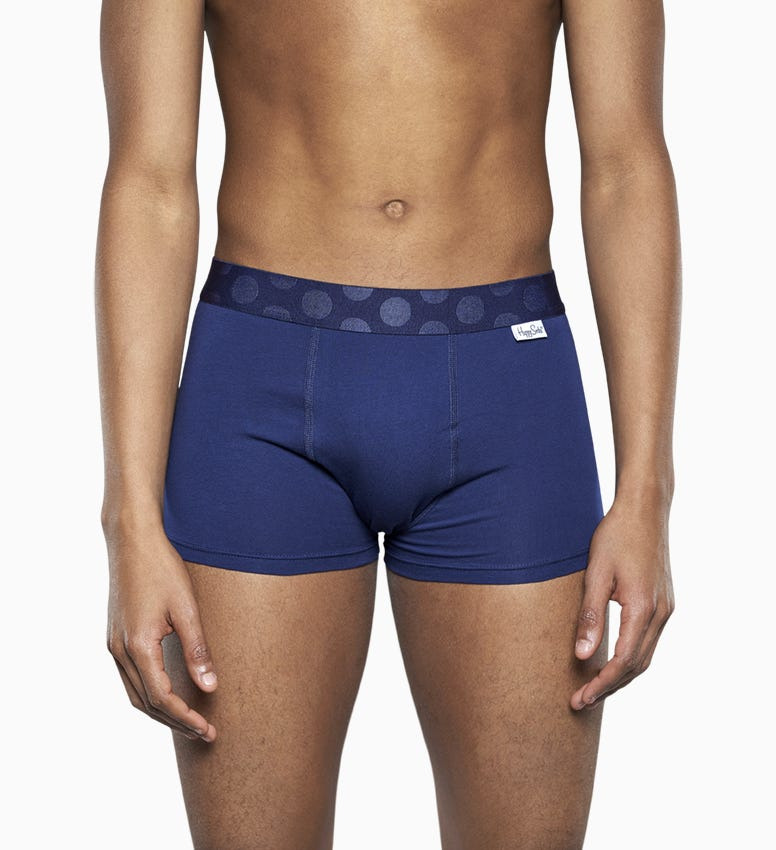 Blaue Herrenunterwäsche 2-Pack: Big Dot Trunk   Happy Socks