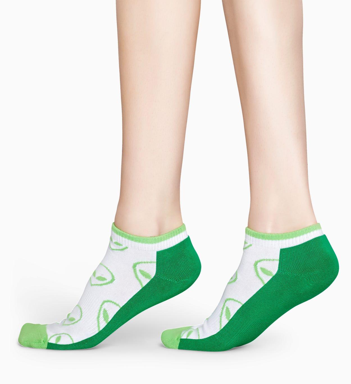 Grüne niedrige Sportsocken: Alien - ATHLETIC   Happy Socks