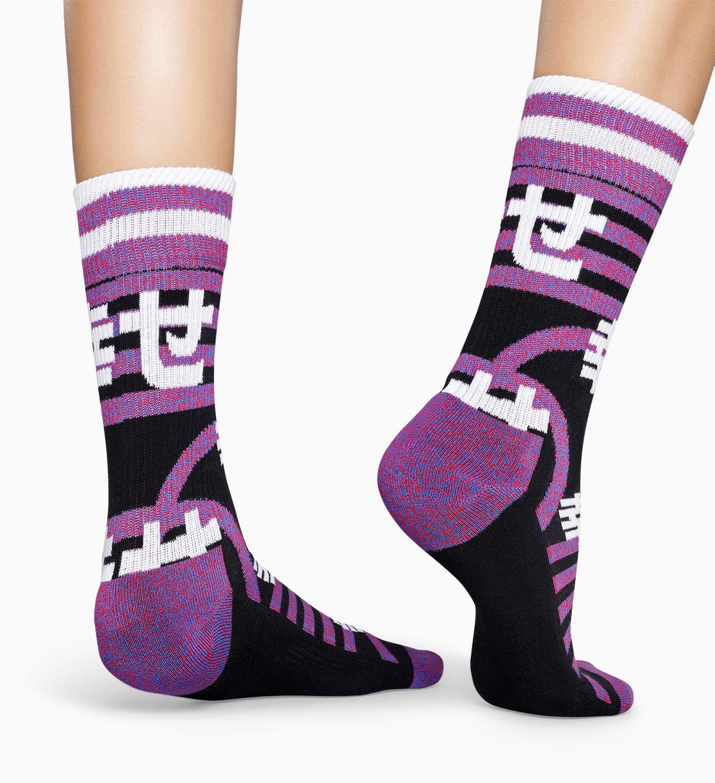 Schwarze Sportsocken: Japan - ATHLETIC | Happy Socks