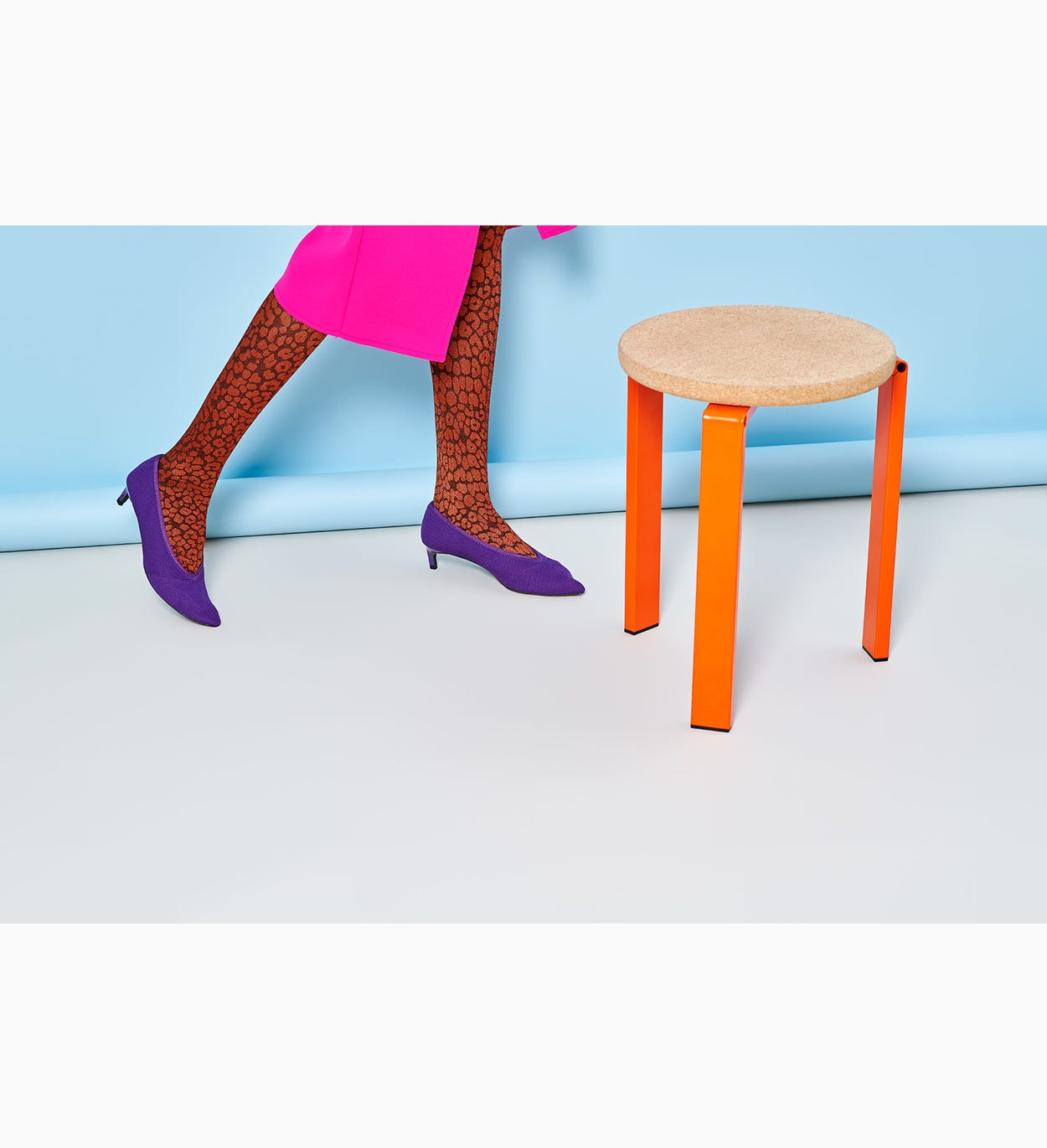 Orange Tights for women: Sophie | Hysteria by Happy Socks