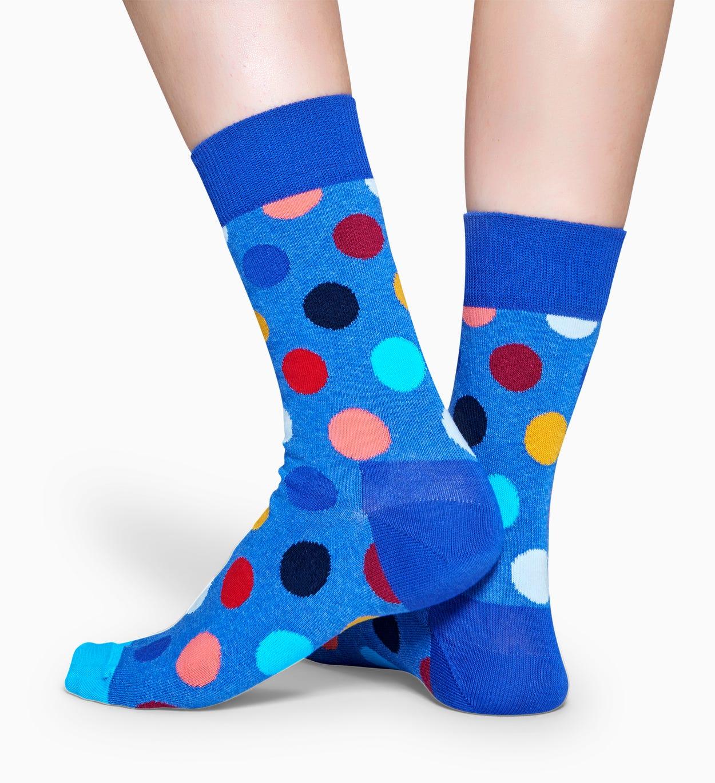 Blaue Baumwollsocken: Big Dot Design | Happy Socks