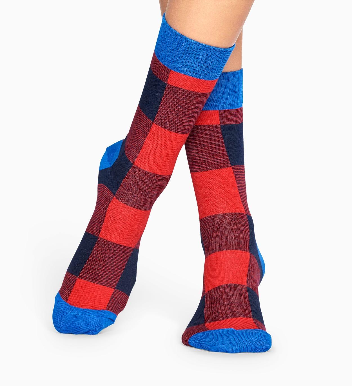Red socks: Gingham pattern | Happy Socks