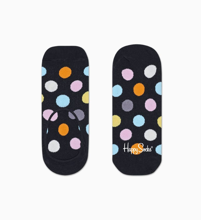 Black   Turquoise liner socks 3pc: Big Dot | Happy Socks