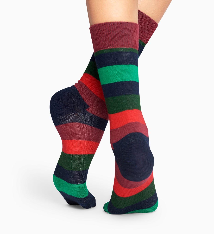 Green socks: Stripe pattern | Happy Socks