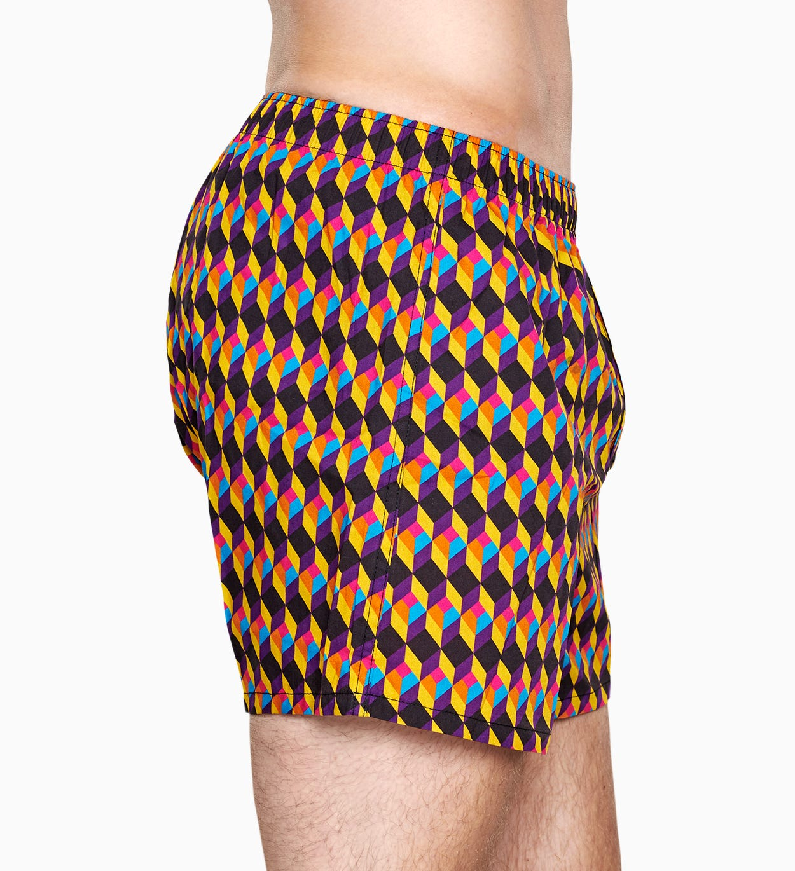 Herrenunterwäsche: Optic Square Boxer, Schwarz | Happy Socks