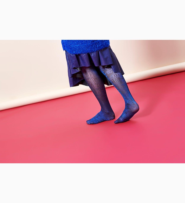 Blaue Strumpfhosen: Sophie   Hysteria by Happy Socks