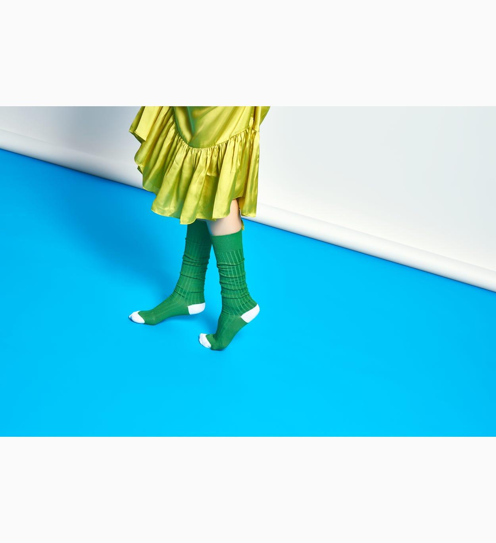 Kniehohe Socken für Damen: Cilla - Grün | Hysteria