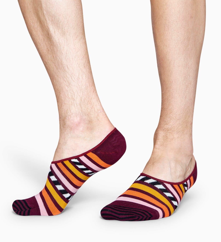 Burgunder Füßlinge: Stripe And Stripe Design | Happy Socks