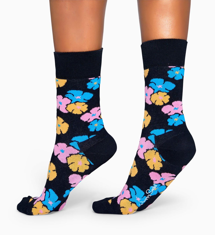 Schwarze Baumwollsocken: Kimono Design | Happy Socks