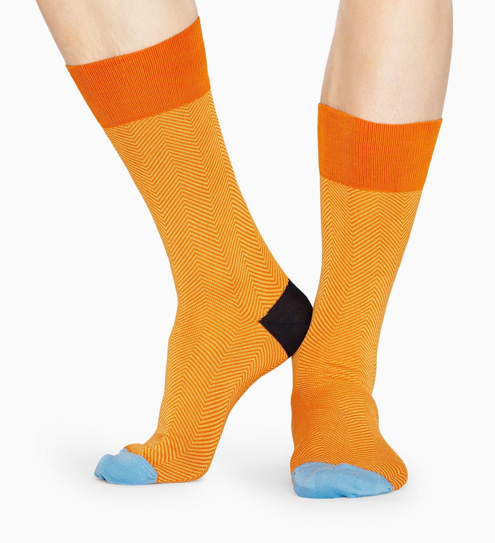Orange Anzugsocken: Herringbone - DRESSED   Happy Socks