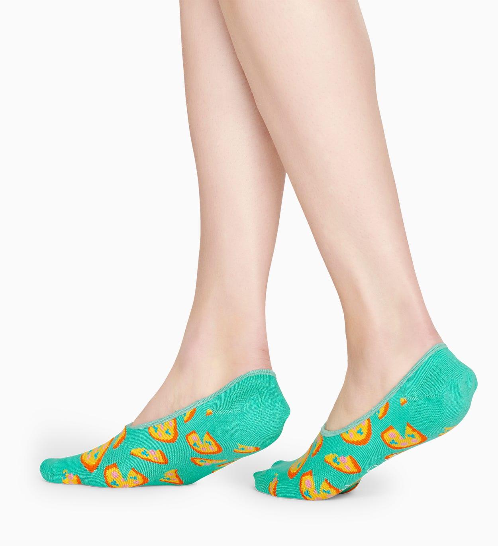 Türkise Füßlinge: Pizza Muster | Happy Socks
