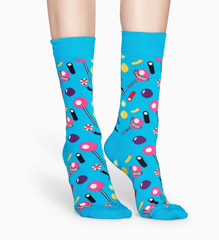 Gemusterte blaue Socken: Candy | Happy Socks