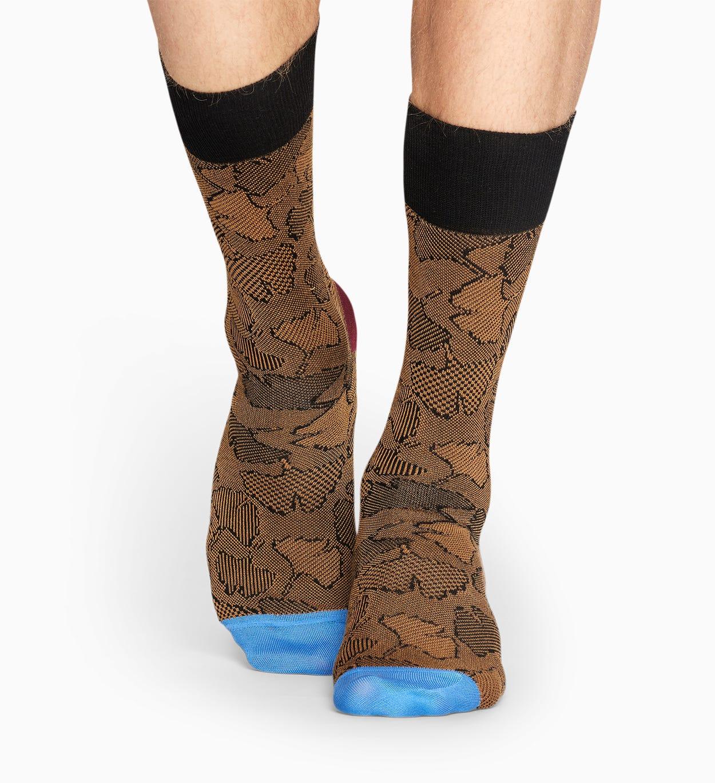 Brown suit socks: Ginko - DRESSED   Happy Socks