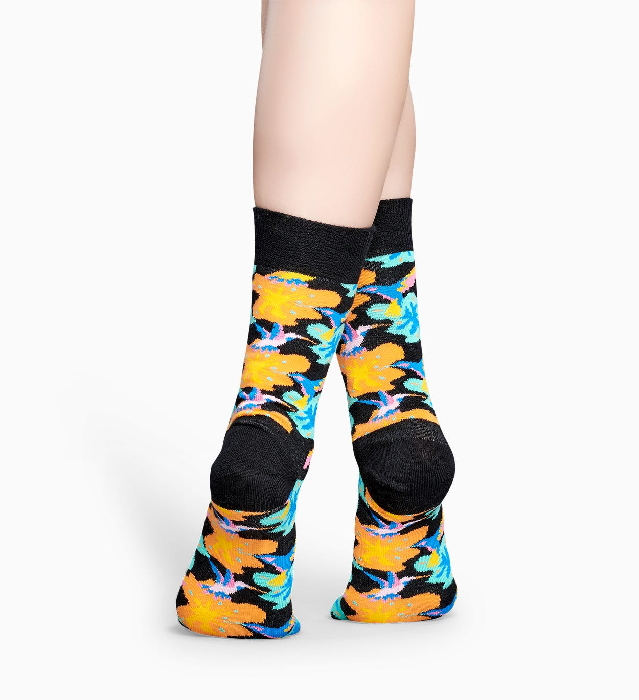 Schwarze Socken: Hummingbird   Happy Socks