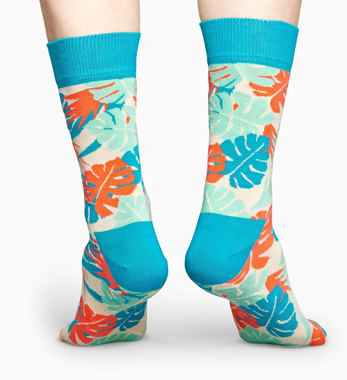 Blaue Blätter Socken: Leaves | Happy Socks