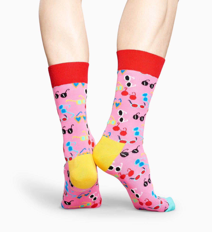 Pinke Socken: Shades Sonnenbrillen   Happy Socks