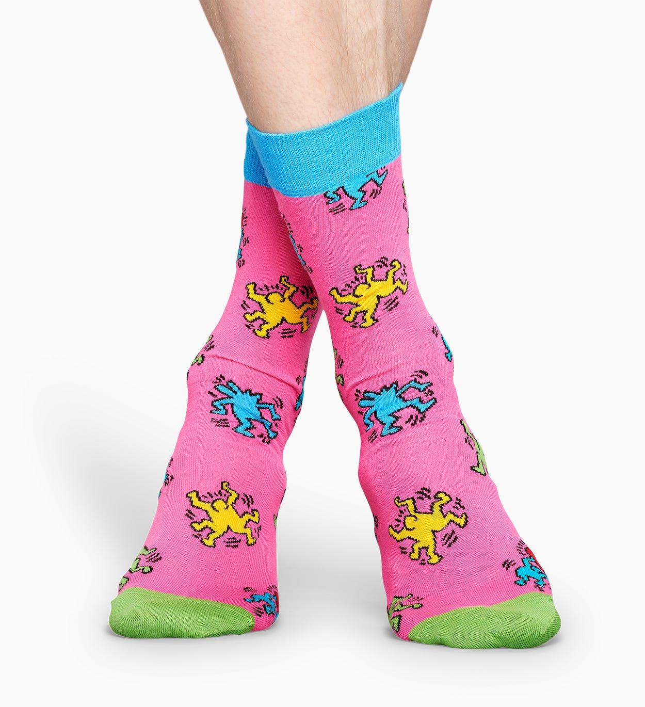 Happy Socks x Keith Haring: Dancing Socken