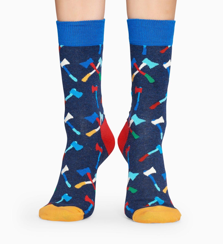 Blue socks: Axe pattern | Happy Socks