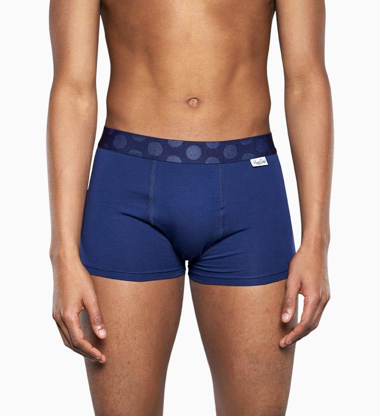 Blue trunk: Filled Optic - Men's Underwear 2pc   Happy Socks