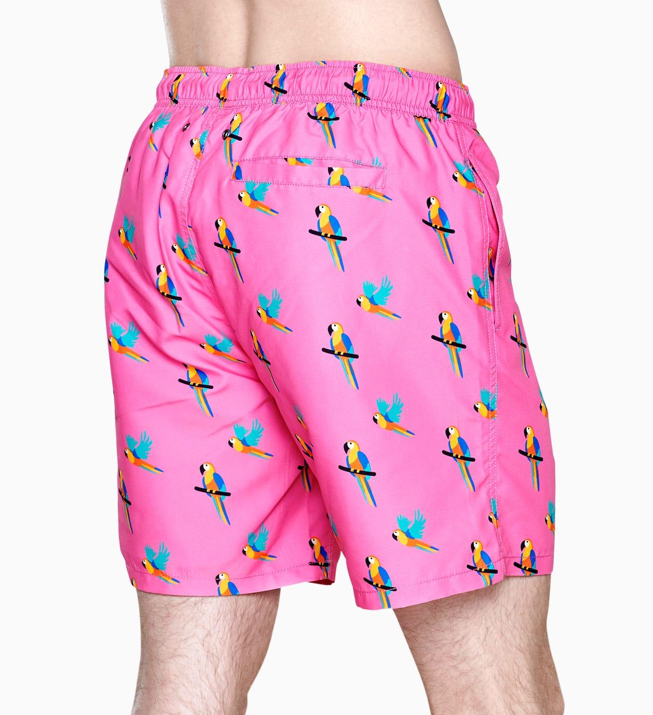 Bunte Badehosen: Parrot Muster Pink I Happy Socks