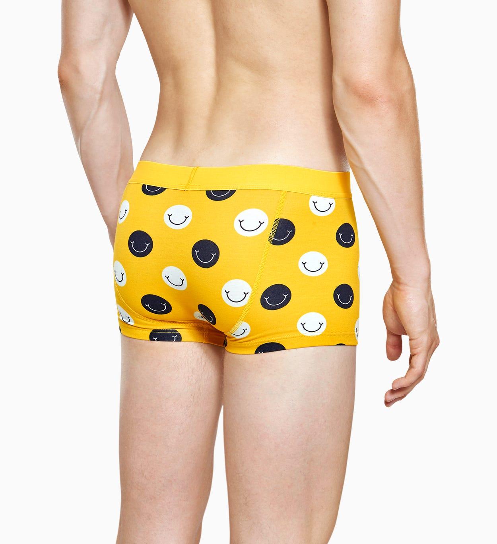 Gelbe Herren Unterwäsche: Smile Trunk | Happy Socks