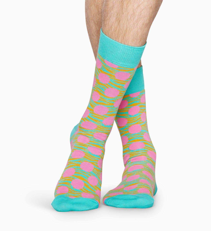 Gemusterte türkise Socken: Tiger Dot   Happy Socks