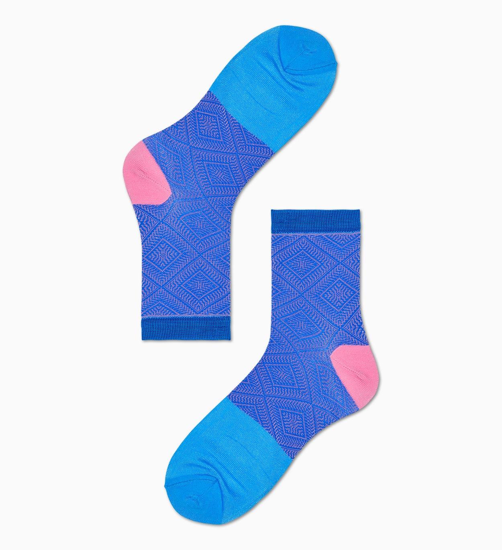 Damen Sneaker Socken: Jill - Blau   Pink | Hysteria