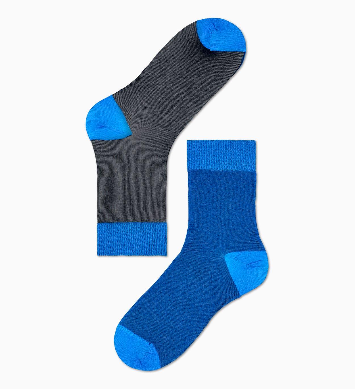 Damen Sneaker Socken: Filippa - Schwarz   Blau | Hysteria
