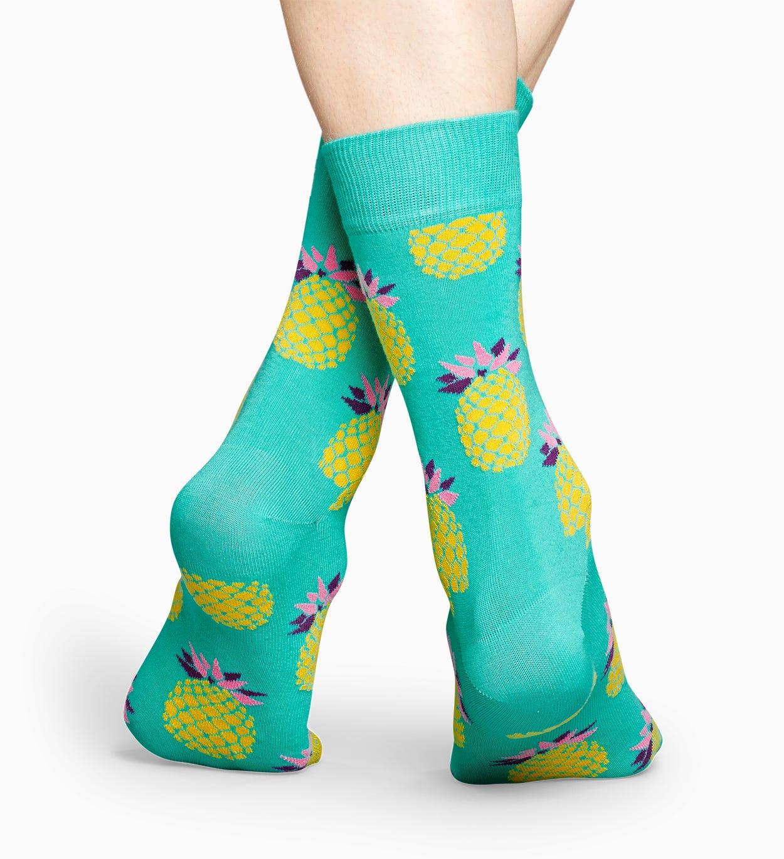 Mintgrüne Ananas Socken: Pineapple | Happy Socks