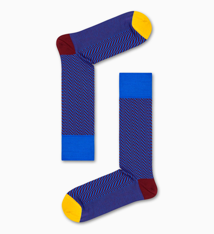 Blaue Anzugsocken: Volume - Dressed   Happy Socks