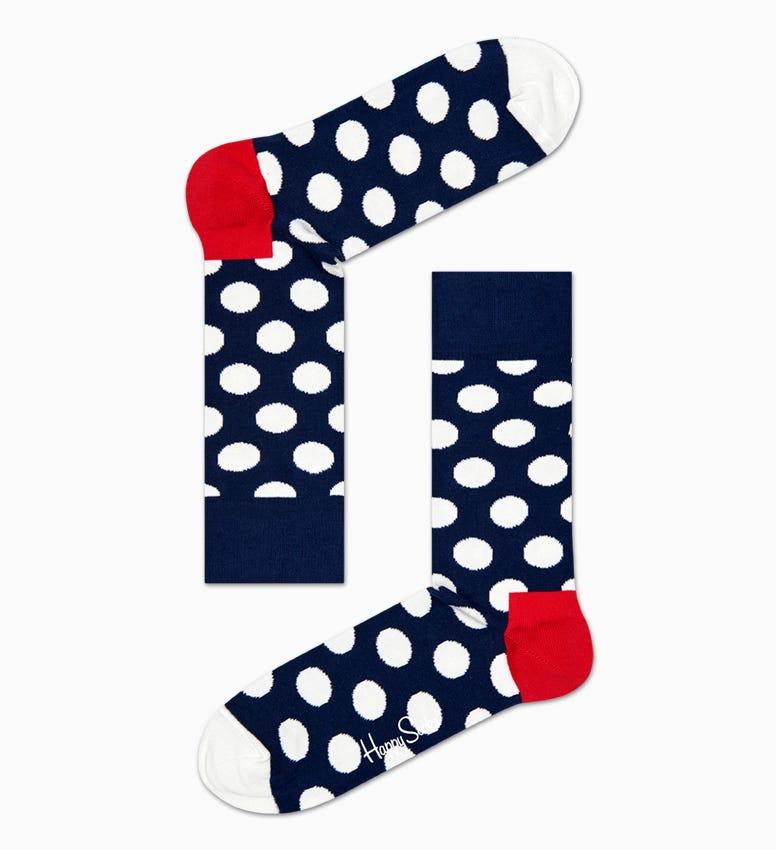 Navy, rot   weiße Big Dot Socken: Big Dot | Happy Socks
