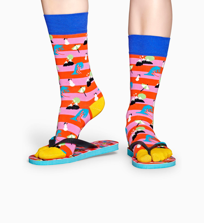 Happy Socks x Havaianas: Nature Flip Flops und Socken
