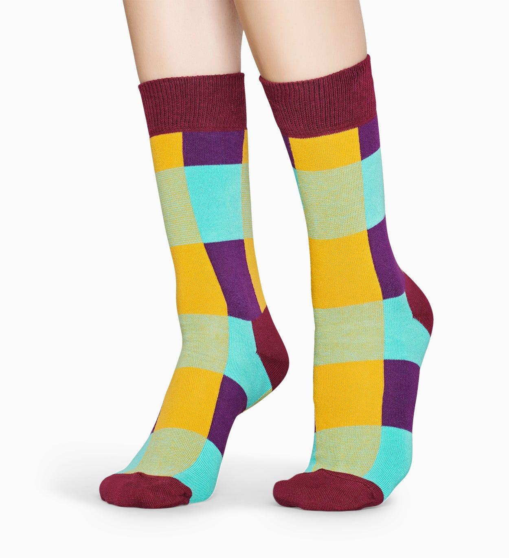 Gemusterte burgunderfarbene Socken: Lumberjack   Happy Socks